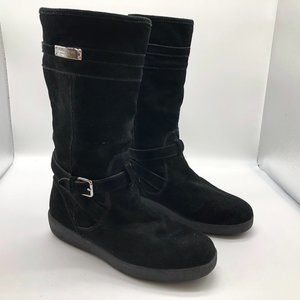 Coach Boots Black Flat Rubber Soles Women's 8.5